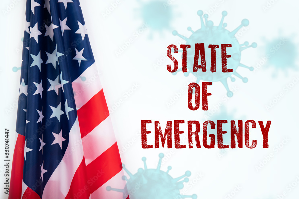 Fototapeta USA sweeping emergency state restrictions to combat the spread of the virus.