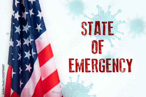 Obraz USA sweeping emergency state restrictions to combat the spread of the virus. - fototapety do salonu