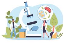 Biology Science Concept. Peopl...