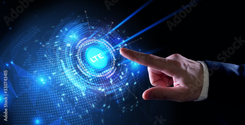 Vászonkép Business, Technology, Internet and network concept