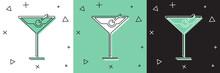 Set Martini Glass Icon Isolate...