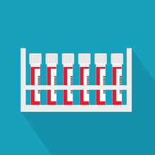 Blood Test Tubes- Vector Illustration
