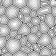 Seamless Pattern, Ornate Turtle Shell Pattern. Vector Seamless Pattern With Hand Drawn Doodle Turtle Shell.Vector Stock Illustration, EPS10