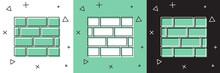 Set Bricks Icon Isolated On Wh...