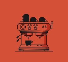 Flat Vector Coffee Machine Icon