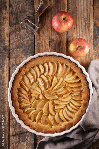 Valokuva homemade gourmet apple pie