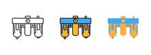 Frl Combination Icon Set Isola...