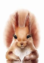 Squirrel Print • PRINTABLE A...
