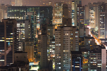 Panoramic View Of Sao Paulo, B...