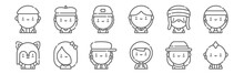 Set Of 12 Urban Tribes Icons. ...