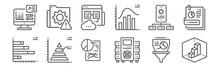 Set Of 12 Data Analytics Icons...