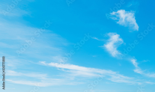 blue sky and white clouds Canvas Print