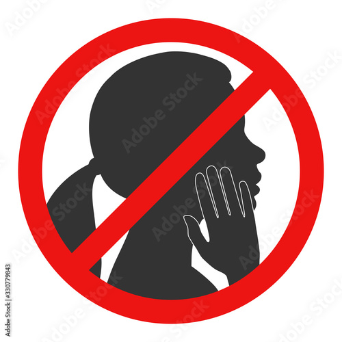 Prohibition of touching the face Wallpaper Mural