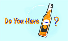 Bottle Of Beer On Blue Backgro...