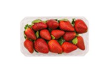 Plastic Container With Strawbe...