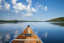Canoe On Calm Northern Minneso...