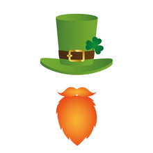 Leprechaun Character Face Red ...