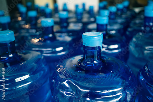 Obraz A pile of large drinking water bottles - fototapety do salonu