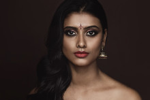 Portrait Of Indian Woman With ...