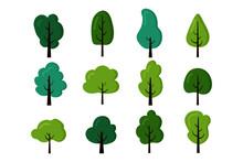 Collection Of Trees Illustrati...