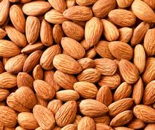 Almonds Nuts Background. The V...