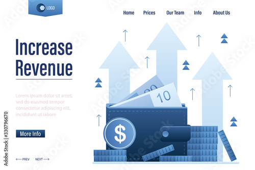 Fotografía Increase revenue landing page template