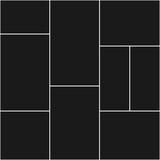 Szablony kolaży fotograficznych dziewięć ramek na zdjęcia i zdjęcia, kolaż zdjęć, puzzle. Płaskie ilustracji wektorowych. Nowoczesna makieta minimalistycznej tablicy nastrojów - 330801817