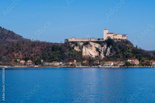 Rocca di Angera. Lake Maggiore, Italy. Slika na platnu