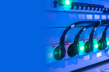 Electrical Equipment. Voltage Stabilizer. Outlets. Stabilization Of Electricity. Place For Text Next To The Stabilizer. Concept - Secure Electricity. Power Surge Protection. Sale Electrical Equipment