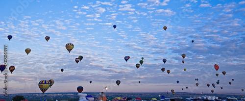 Hot air balloons over Albuquerque at balloon Fiesta, September Canvas Print