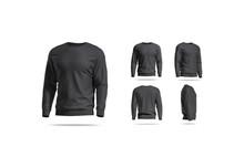 Blank Black Casual Sweatshirt ...