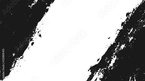Fototapeta Black and white grunge texture background. Vector illustration obraz