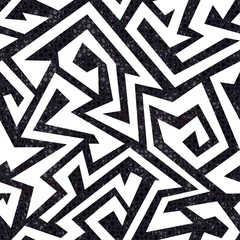 white maze seamless pattern with grunge effect