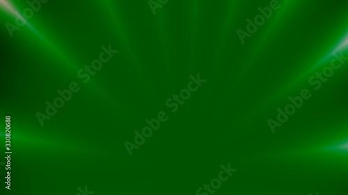 Obraz Sfondo verde con raggi di luce - fototapety do salonu