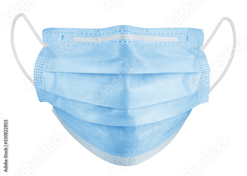 Obraz Medical mask isolated on white background, corona virus protection, covid-19, clipping path, full depth of field - fototapety do salonu