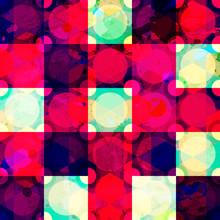 Red Diamond Seamless Pattern Grunge Effect