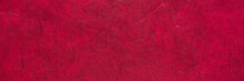 Dark Red  Textured Mulberry Paper Banner