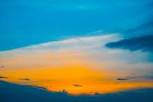 Beautiful Early Blue Cloudy Sk...