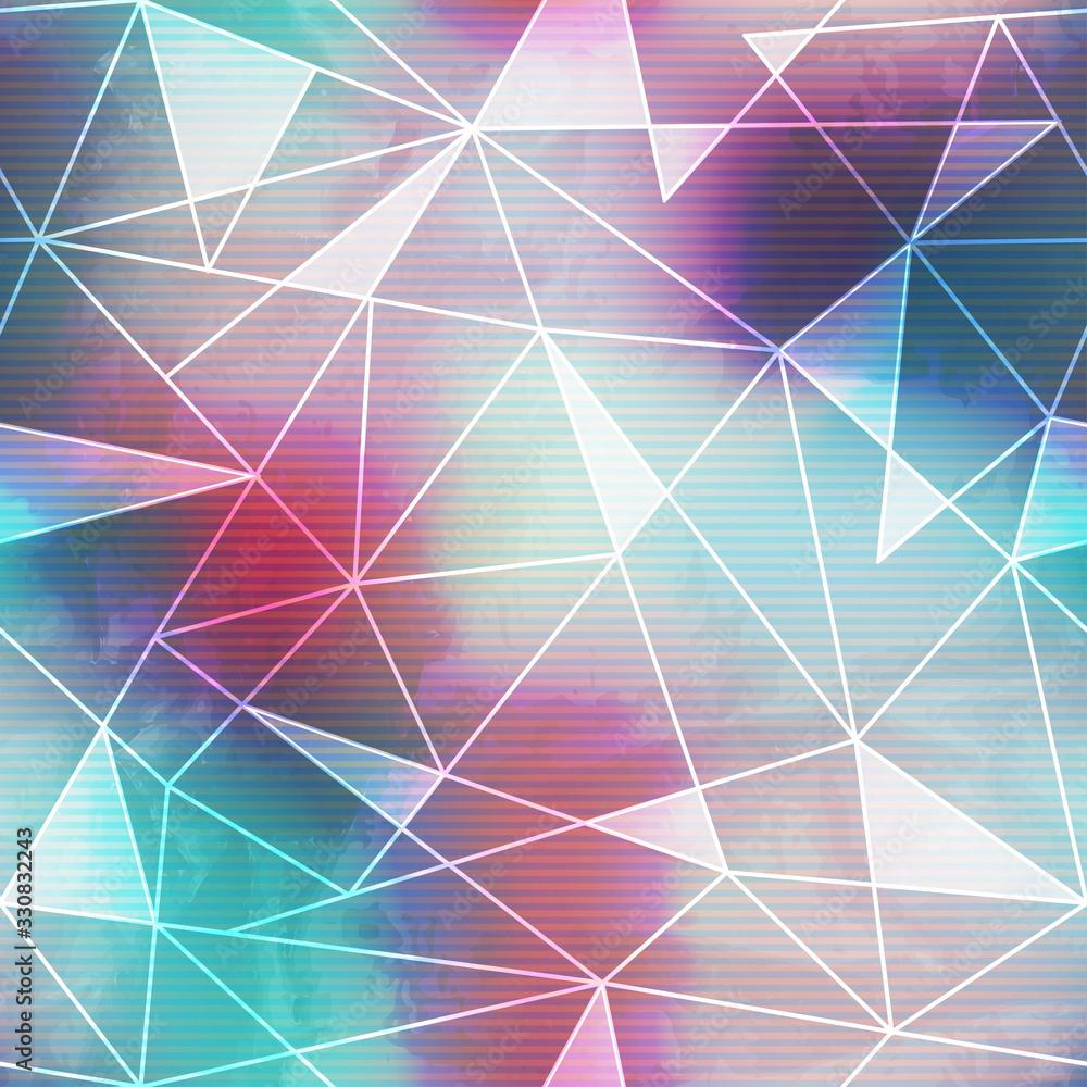 Fototapeta Bright mosaic seamless pattern