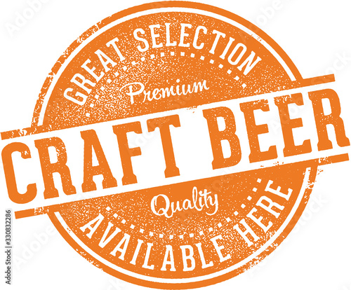 Fototapeta Great Craft Beer Selection Sign