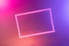 Neon Light Background In Frame...