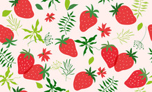 Seamless Pattern With Strawber...