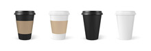 Paper Coffee Cups 3d Realistic...