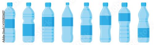 Fotografia Water bottle flat style set