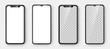 Realistic Smartphone set. Phone template. Vector