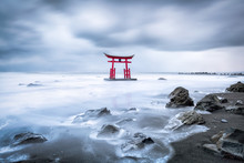 Japanese Torii Gate In Winter ...