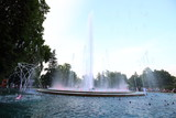 Fototapeta Tęcza - Budapest fountain show in Hungary