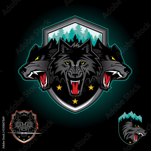 Photo Wolf pack emblem logo