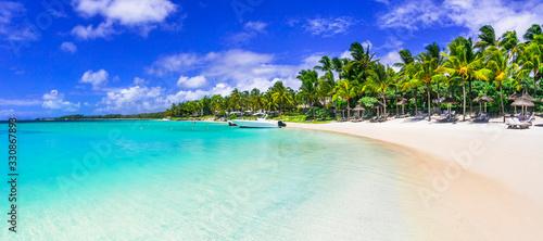 best tropical destination - beautiful Mauritius island, Bell Mare beach