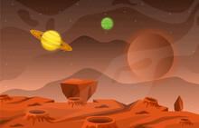 Landscape Surface Of Planet Sk...